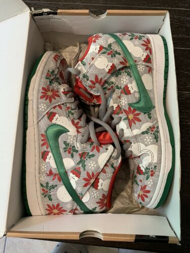 "nike sb dunk high ""ugly sweater"" grey Concepts siz"