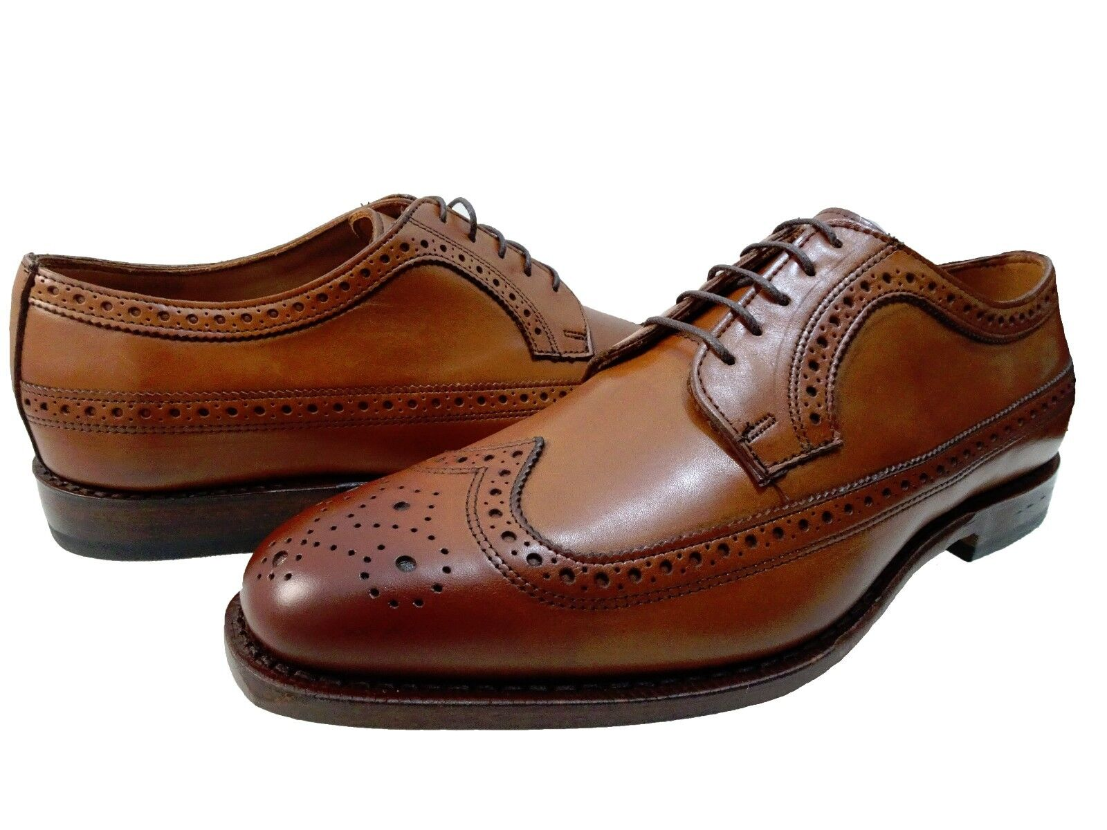 Allen Edmonds Mens Leiden Lace Up Brogue Wingtip Perforated Business Dress shoes