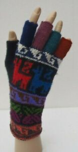 UNISEX-ALPACA-WOOL-Hand-Knitted-FINGERLESS-GLOVES-VERY-WARM-Medium-toLarge