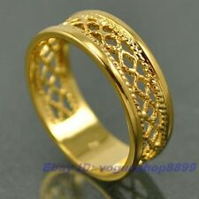 Size 8 RING,REAL POSH 18K YELLOW GOLD GP EMPAISTIC SOLID FILL,Multi-size vp4