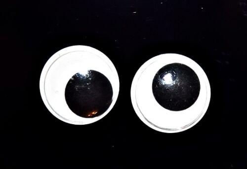 Adhésif sticky back Googly wiggly chancelant joggly jiggly yeux 5-20mm ou mélanger