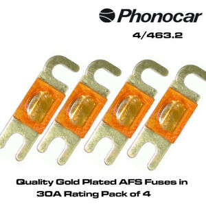 Phonocar 4//524.2  Quality Glass AGU Fuses in 20A Rating /& Supplied Pack of 4
