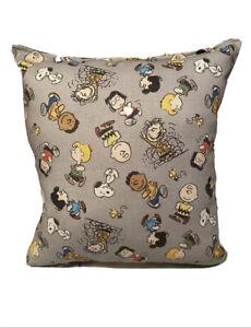 Peanuts Pillow Charlie Brown Pillow Peanut Gang Pillow Rare Handmade In USA