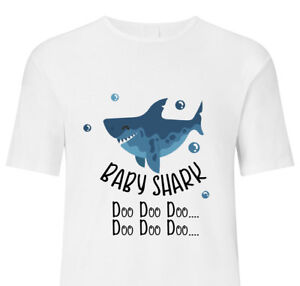 Details about Baby Shark Doo Doo T Shirts Top Boy Girl Kids Children Adults  Funny Song Gift