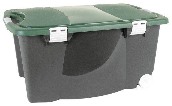 Confezione 2 Scatola Conservazione Jägerbox Box Multiuso Contenitore a rossoelle