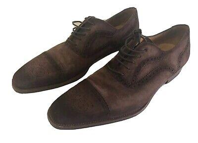 Massimo Emporio By Magnanni 250471 Mens Augustine Cap-Toe Oxford Black Size 7 M