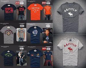 Original-Abercrombie-amp-Fitch-HOLLISTER-Camiseta-para-hombre-AF-S-M-L-XL-XXL