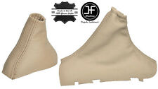 BEIGE REAL LEATHER AUTOMATIC GEAR HANDBRAKE GAITER FOR VOLVO S80 1998-2006