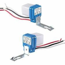 2 Pack Ac 110v 10a Automatic Auto On Off Photocell Street Light Switch 50 6