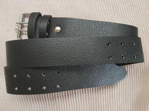 "2/""Genuine Texture Leather Casual Gun Work Belt Double Hole Heavy Duty AUS New"