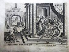 L'invasione delle rane; Jan Sadeler I 1585, GERARD DE JODE.acquaforte e bulino.