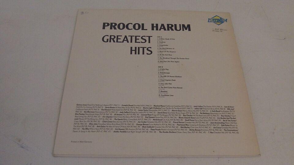 LP, Procol Harum, Greatest Hits