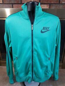 Vintage-Nike-Air-Swoosh-Track-Warmup-Jacket-Coat-Mens-Size-Large-Green-Full-Zip