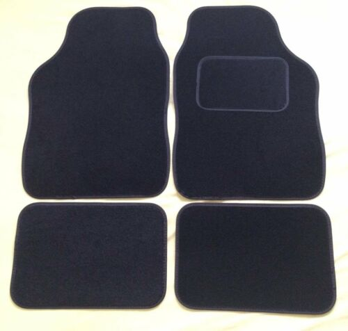 BLACK WITH BLACK TRIM FOR DAIHATSU COPEN SIRION TERIO UNIVERSAL CAR FLOOR MATS