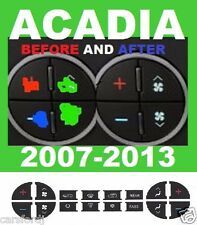 2007-2008-2009-2010 GMC ACADIA CLIMATE A/C BUTTON SET OF DECALS