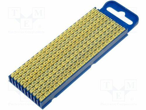 Poliamida-Amarillo 2.8 ÷ 3.8mm Marcadores de WIC2-0-9//Y para cables y los cables