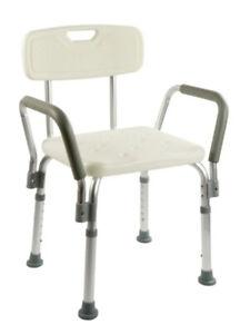 details sur chaise de douche ortoprime avec dossier amovible tabouret de salle de bain