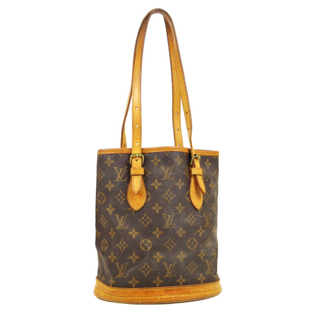 LOUIS VUITTON BUCKET PM HAND TOTE BAG VI0977 PURSE MONOGRAM CANVAS M42238 34298