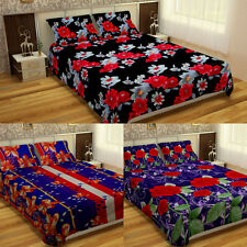 Floral Double Bed Bedsheet With Two Pillow Covers