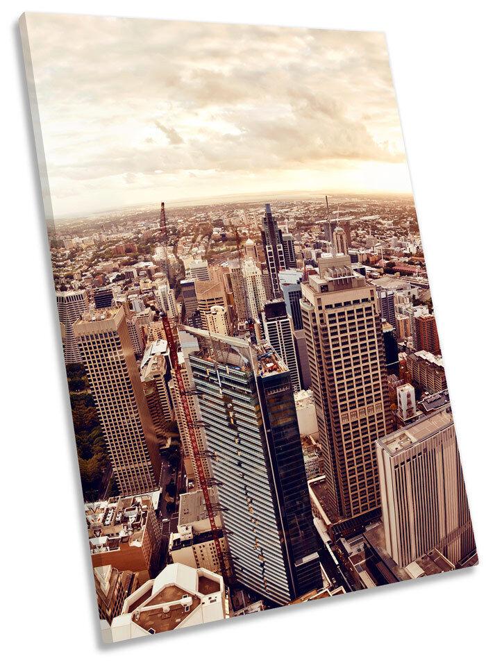 Sydney Australia Skyline Framed CANVAS WALL ART Picture Print