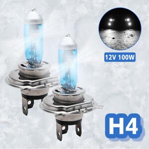2x-H4-6000K-100W-Xenon-Car-Headlight-Globes-Halogen-Bulbs-Super-White-Light-12V