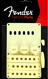 NEW KIT STRAT FENDER 0991368000 aged white -9 accessoires - guitare stratocaster
