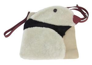 MARINA-RINALDI-Women-039-s-Beige-Samoiedo-Penguin-Crossbody-Bag-One-Size-480-NWT
