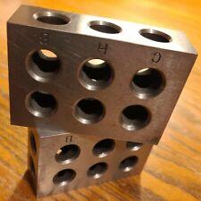 1 Matched Pair 1 2 3 Blocks 11 Hole Machinist Tools Setup