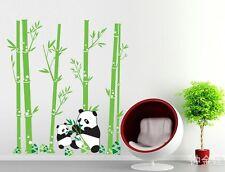 Panda bamboo fashion Home Decor Removable Wall Sticker/Decal/Decoration