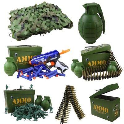 KIDS ARMY TOYS DEN KIT CAMO NET AMMO TIN GRENADE GUN BELT BOYS SOLDIER ROLE PLAY | eBay