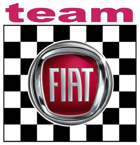 FIAT TEAM Sticker  vinyle laminé