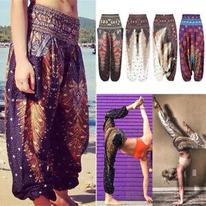 8f2f438ea6ecd Baggy Women's Yoga Harem Pants Loose Trousers Thai Indian Boho Gypsy ...