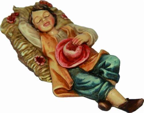 Crèches Johannes crèches personnages jeunes couché pour personnages Taille environ 10 cm