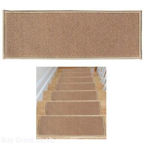Non Slip Carpet Stair Treads Set 7 Skid Resistant Rubber