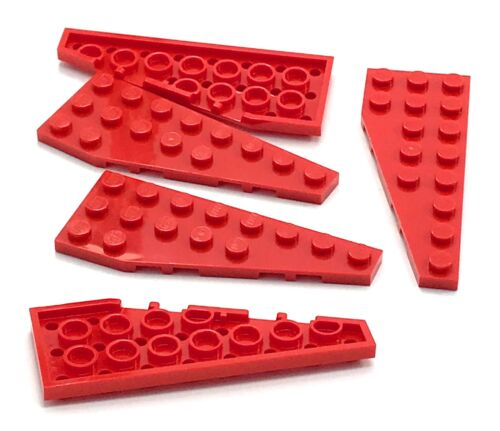 Lego 5 New Red Wedge Plates 8 x 3 Right Pieces