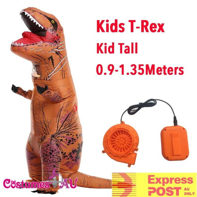 Child Inflatable Trex Dinosaur Costume T Rex T-Rex Kids Boys Brown Halloween
