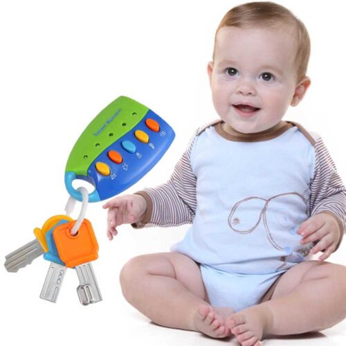 Cartoon Baby Kids Musical Smart Remote Car Key Toy Car Voices Pretend Play Toys