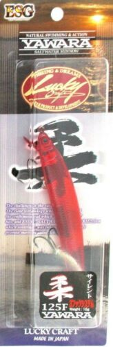Lucky Craft Flash Minnow Yawara 125F Floating IN A SOLID RED Pattern NEW