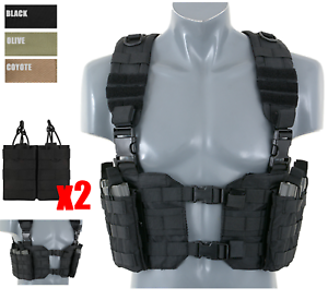 Split Front Harness Chest Rig Lightweight Vest light Kampfweste Airsoft