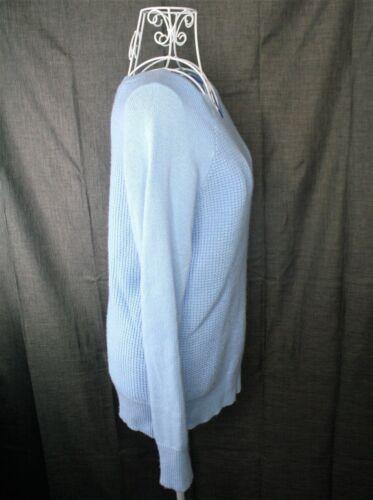 Maglione in girocollo Waffle Merino Girocollo da lana Waffpun blu donna qRgWrqHSI