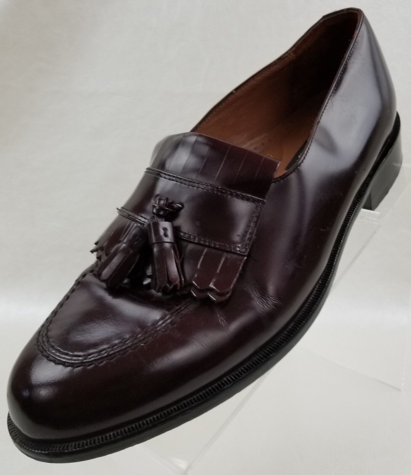 Bostonian Loafers Tassel Kiltie First Flex Mens Brown Leather Slip On shoes 8.5M