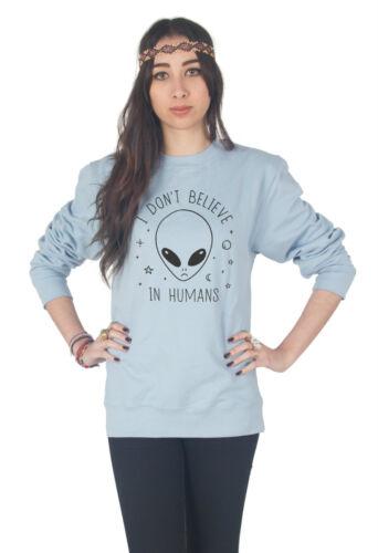 Je ne crois pas chez l/'homme sweater top pull sweat fashion grunge alien