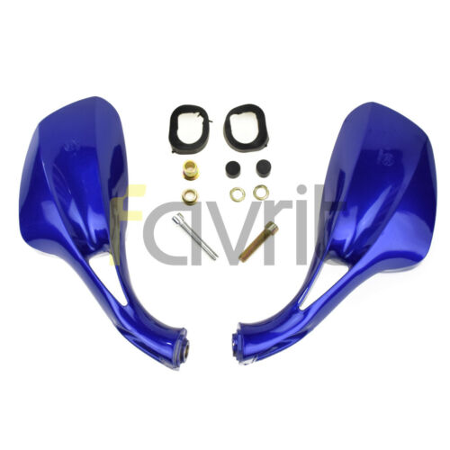 8mm Moped Go Kart Scooter GY6 50cc 150cc 250cc Scooters Rearview Mirror Blue