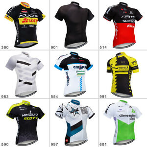 2020 Mens Pro Cycling Jersey Riding Shirt Short Sleeve Breathable Quick Dry Tops