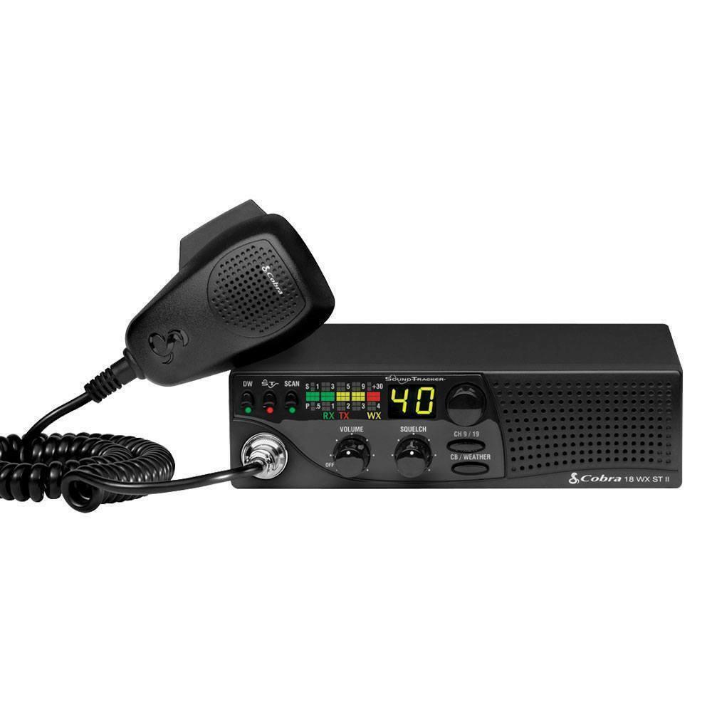 cobraelectronics Cobra 18 WX ST II CB Radio Single DIN Size Weather NOAA Radio Front Speaker