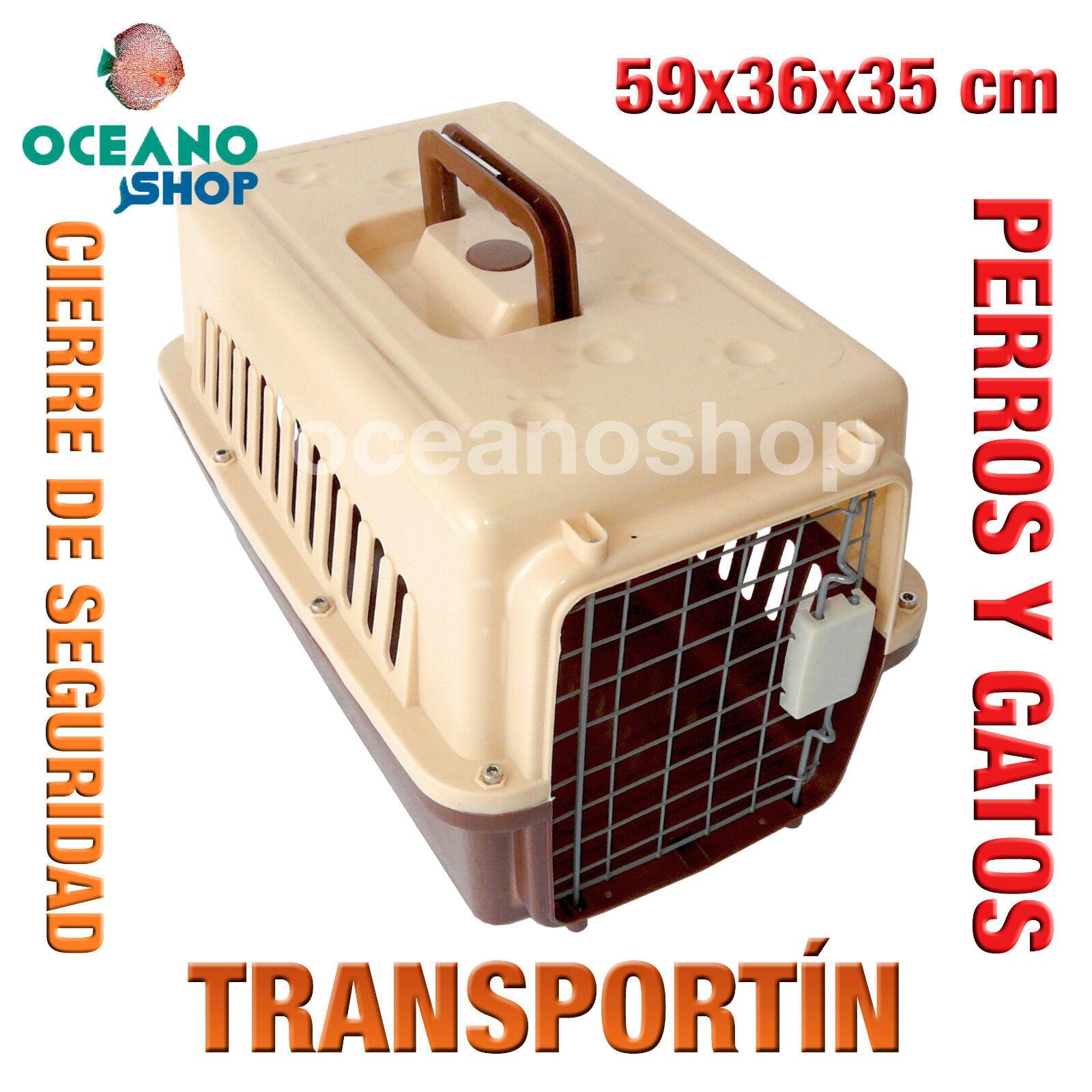 TRANSPORTIN PERRO Y GATO CALIDAD CIERRE DE SEGURIDAD ASA 59x36x35 cm L549...
