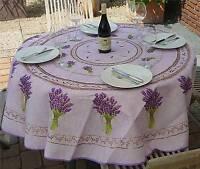 tischdecke wachstuch rund 90 140 cm provence lavendel ebay. Black Bedroom Furniture Sets. Home Design Ideas