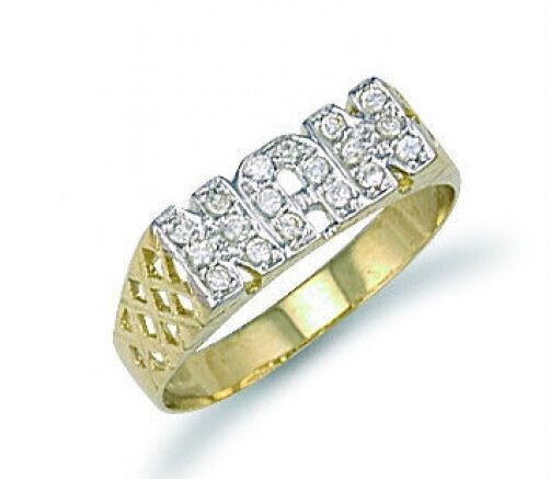 Nan Ring Yellow gold Nan Ring Ladies gold Hallmarked Grandma Nanny Grandmother