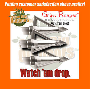 Details about FREE ship 3 Grim Reaper Hades 125gr 125 gr grain Broadheads #  6279 - Save Big!
