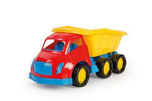 maxi large kids toy dump work construction sandpit tipper 6 wheels